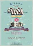 Vintage Christmas Poster.