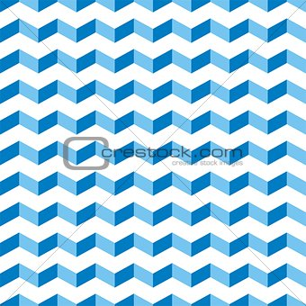 Aztec Chevron blue seamless vector pattern, texture or background with zigzag swimming pool motif