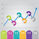 Infographic chart ideal for advertisements