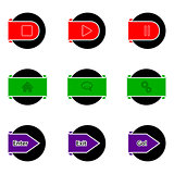Simple color button design
