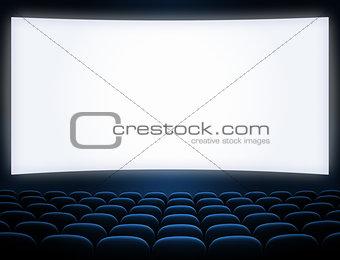 cinema screen blue seats