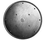 round metal shield isolated