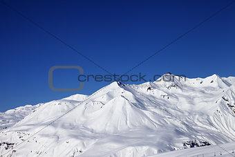 Ski resort at nice sunny day