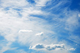 Very nice weather: blue sky with white clouds