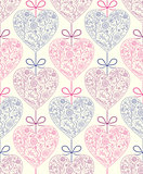 pattern with abstract  hearts