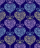pattern with abstract colorful hearts