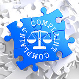 Complaint Concept on Blue Puzzle.