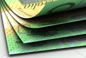 Australian Dollar Closeup