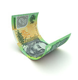 Curled Up Australian Dollar