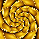 Concentric golden pattern.