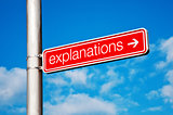 Explanations Street sign