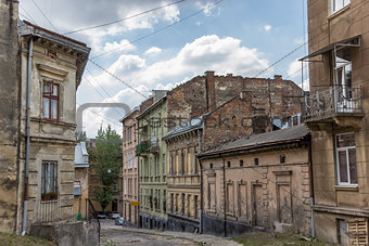 Old run down quarter of Lviv