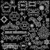 Vector Vintage Holiday Design Elements