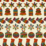Vector seamless winter  Christams pattern