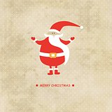 Vector  Christmas  card vintage backgroud