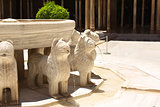 Lion fountain in Alhambra Castle, Spain