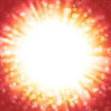 Vector abstract background with sunburst and bokeh lights