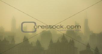 City sunset in Shanghai