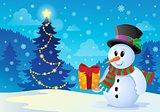 Christmas snowman theme image 1
