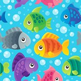Fish theme seamless background 1