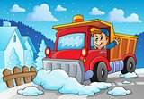 Snow plough theme image 2