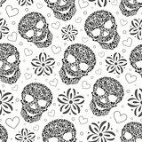 abstract floral skulls
