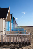 Beach Huts at West Mersea, Essex, England