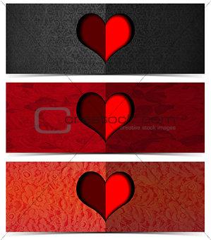 Three Romantic Banners