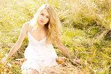 Blonde Woman in Sundress