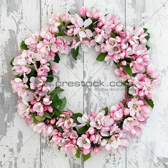 Apple Blossom Wreath