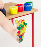 painted foot