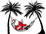 Santa Claus in hammock