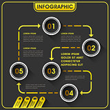 abstract infographics design