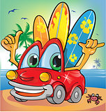 summer time car cartoon