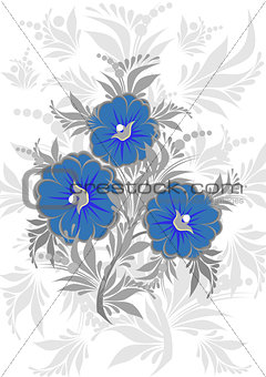 Abstract floral branch with background