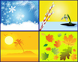 background in the form of the seasons