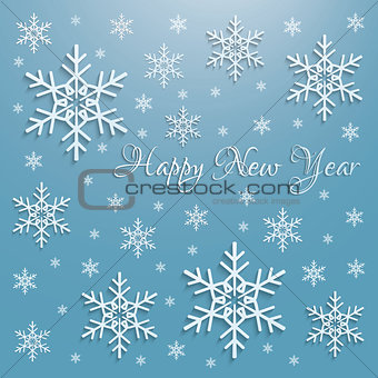 Abstract 3D Snowflakes Design Vector  Christmas Background