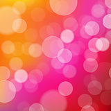 Lights Orange And Pink Background With Bokeh