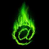 Fiery e-mail symbol.