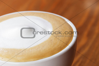 close up photo of dry foam on cappuccino