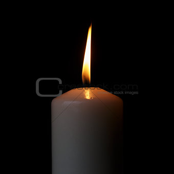 one burning candle