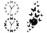 butterfly clocks, vector set