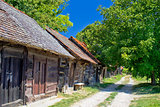 Historic cottages road in Croatia