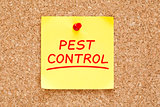 Pest Control Sticky Note