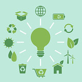 Ecology concept idea in flat style