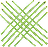Vector grid of bamboo rods