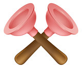Crossed plungers tools icon