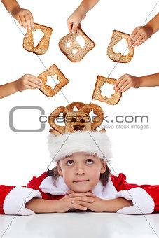 Christmas charity - giving food for the needy