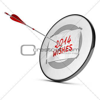 2014 New Year Wishes Concept