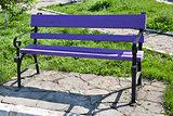 Violet bench